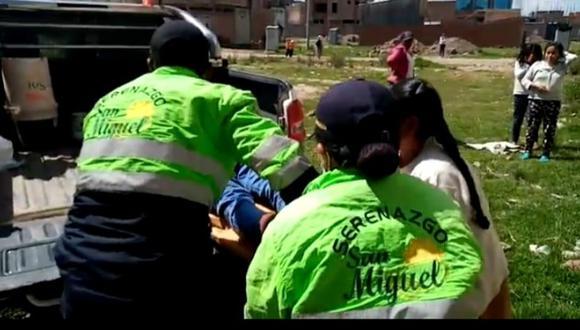 Vecinos llamaron a los serenos de la zona quienes lo auxiliaron rápidamente y le salvaron la vida (Foto: difusión)