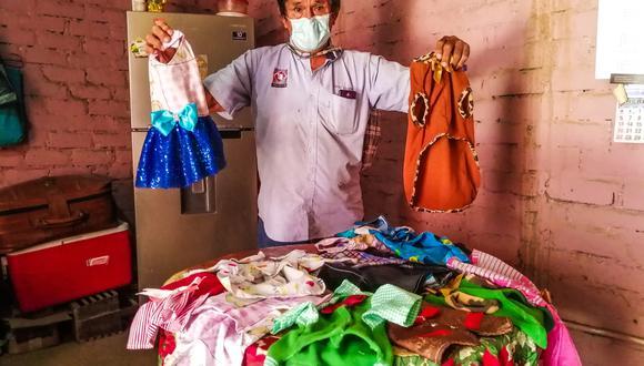 César tiene una variedad de conjuntos para las mascotas del hogar (Foto: Municipalidad de Huanchaco)