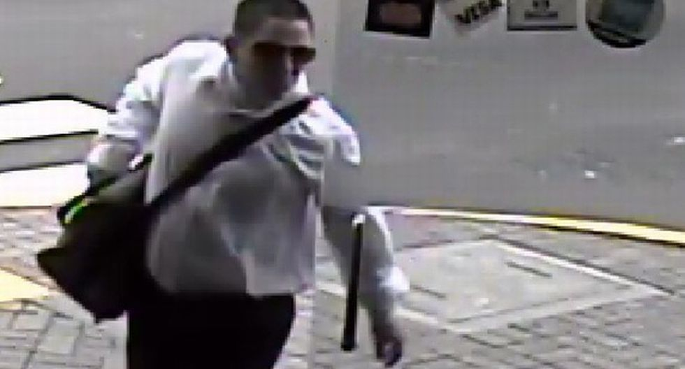 Ladrón fue filmado en local. (Difusión)