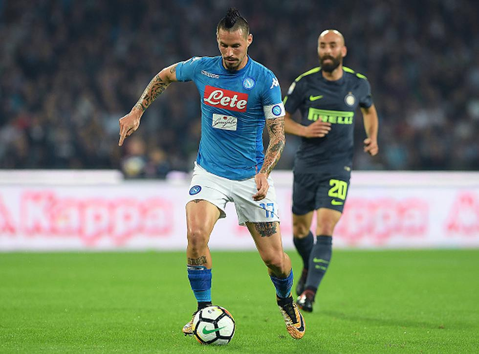Nápoles lidera la Serie A con 69 unidades, mientras que Inter registra 51 puntos en la quinta ubicación de la tabla del certamen. (GETTY IMAGES)