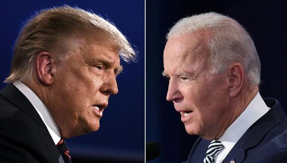 Donald Trump y Joe Biden tuvieron un debate en Cleveland que dejó varias frases para el recuerdo. (Fotos: JIM WATSON y SAUL LOEB / AFP).