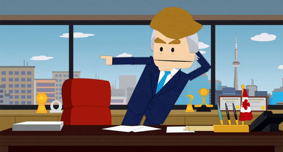 Parodia de Donald Trump, en South Park. (Comedy Central)