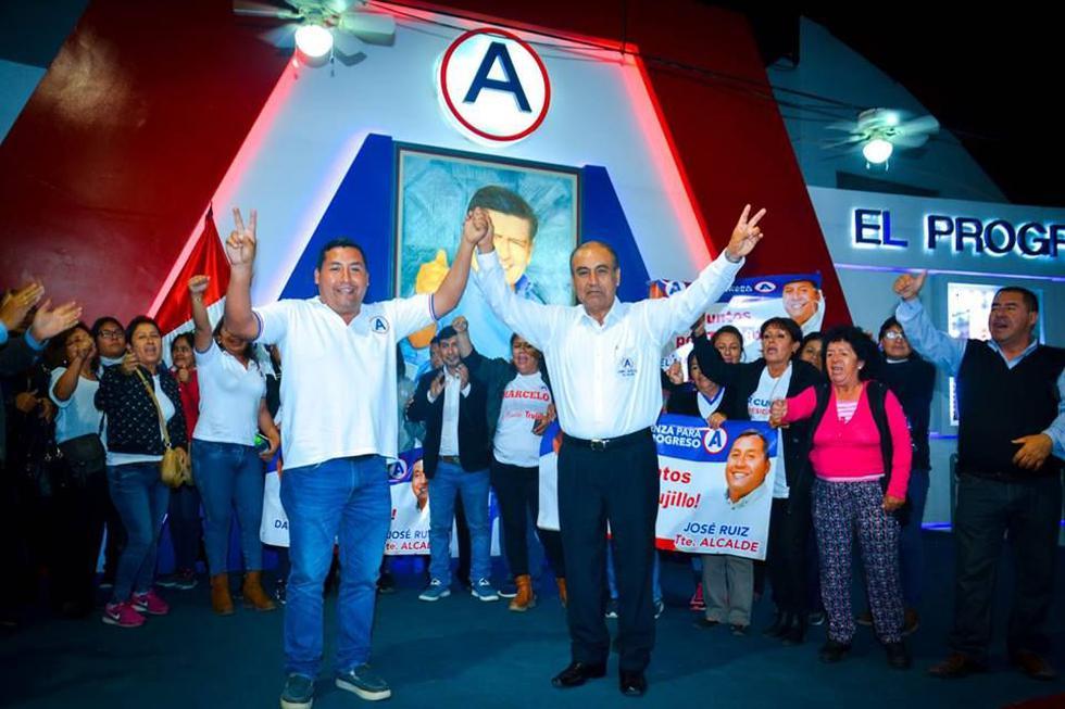 Los alcaldes de La Esperanza, Daniel Marcelo, y de Huanchaco, José Ruiz, encabezan la lista a la alcaldía provincial de Trujillo por APP.