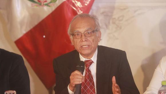 Aníbal Torres juró al cargo de ministro un día después del resto de los integrantes del gabinete Bellido (Foto: Andina)