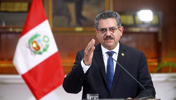 Manuel Merino pensó en reprimir las protestas desde el inicio de su breve gobierno, según Gustavo Gorriti. (Foto: Jhonel Rodriguez Robles / Presidencia)
