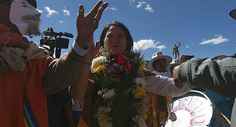 Keiko Fujimori dijo que el aporte de Joaquín Ramírez a su campaña es muy poco. (Luis Centurión)