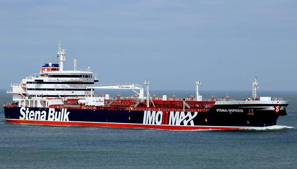 El Stena Impero, de la naviera Stena Bulk y de 30.000 toneladas, se dirigía a un puerto de Arabia Saudita cuando fue capturado. (Foto: AFP)