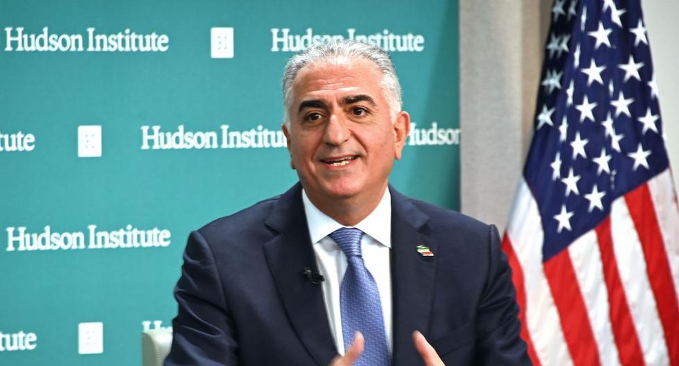Reza Pahlavi conversó en el Hudson Institute de Washington, DC. (AFP)
