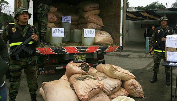 Material incautado fue llevado a la sede de la Dirandro. (USI/Referencial)