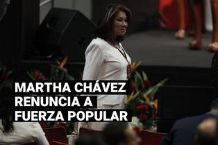 Martha Chávez renuncia a la bancada y a la militancia de Fuerza Popular