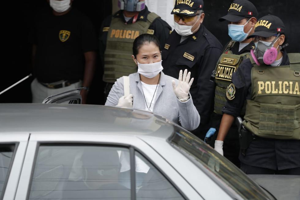 Keiko Fujimori abandona penal Anexo de Chorrillos. (Fotos: Renzo Salazar/GEC)