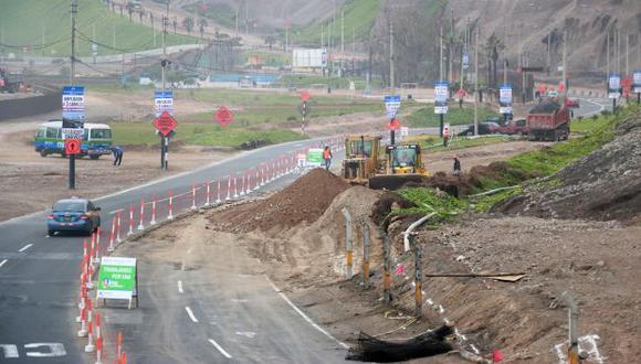 Obras en la Costa Verde concluirán en noviembre. (Emape)