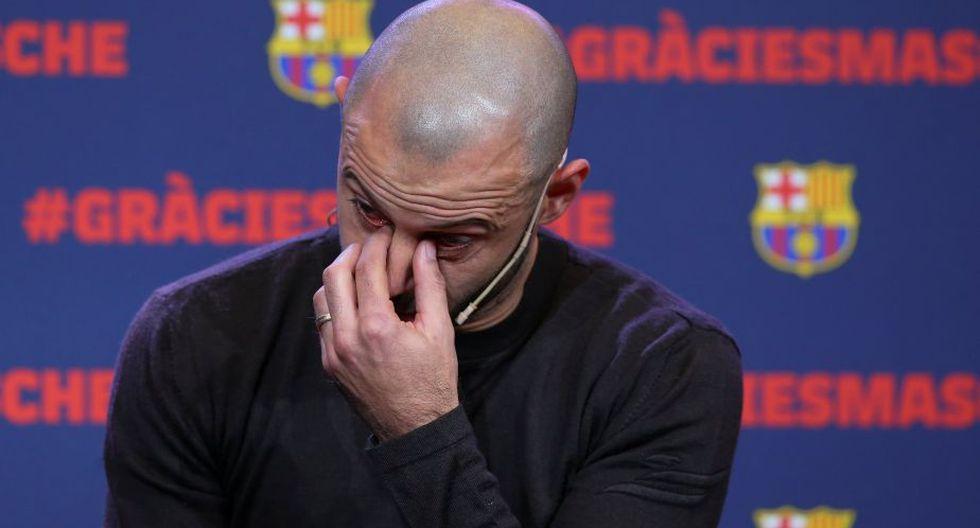 Javier Mascherano cumplió siete temporadas y media en el Barcelona. (Reuters)