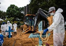 Brasil supera las 330.000 muertes por COVID-19 tras registrar casi 2 mil decesos en un día