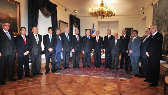 Empresarios se reunieron con mandatario Sebastián Piñera. (Difusión)