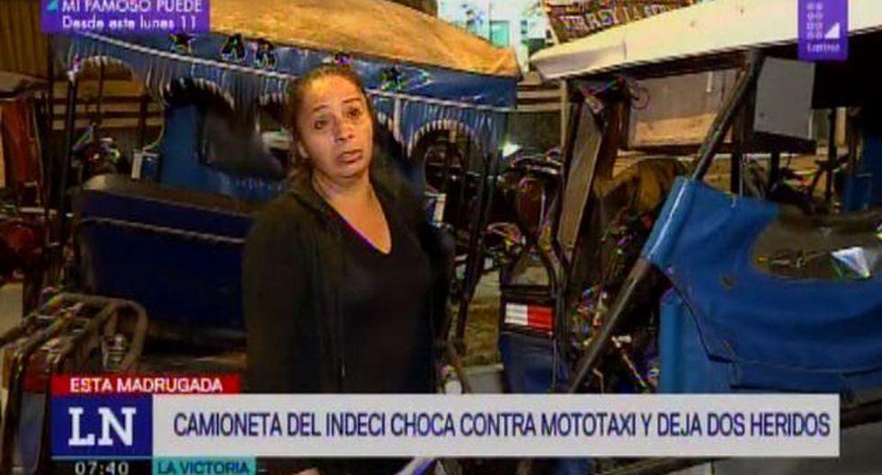 Accidente dejó dos heridos de gravedad. (Foto: Captura Latina)