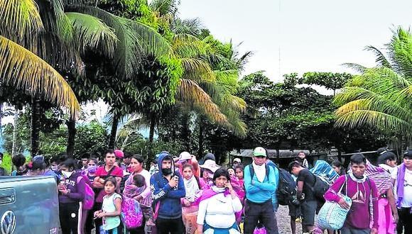 Éxodo en el Vraem: el camino de  los cientos de jornaleros de la coca.