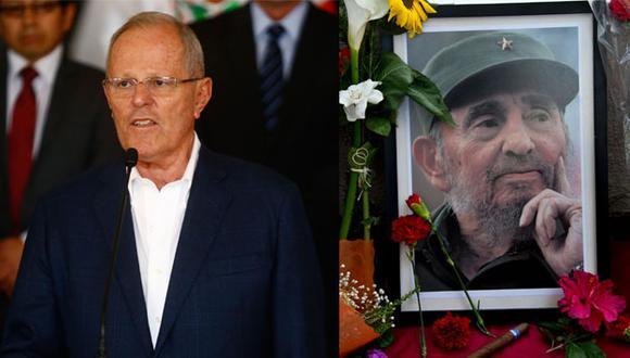 PPK se pronuncia sobre Fidel Castro. (Composición / AP / Perú21)