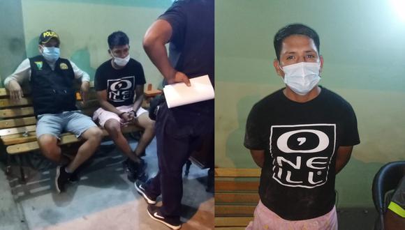 Lambayeque: Agentes del Escuadrón Verde de Chiclayo detuvieron al suboficial PNP Juan Diego Capuñay Díaz (22), tras participar de un confuso incidente al interior de una bodega en el que una persona resultó herida de bala. (Foto PNP)