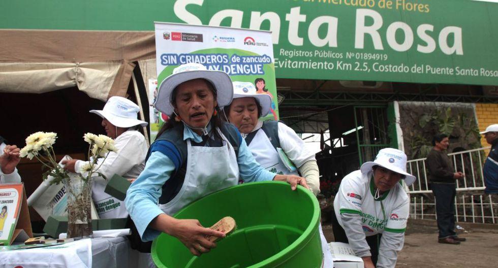 El Minsa promueve la limpieza de recipientes para prevenir la aparición del mosquito transmisor del dengue. (GEC)