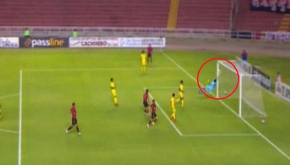 Melgar vs. Comerciantes Unidos: la impresionante atajada que evitó gol del 'Dominó'. (Captura: Gol Perú)