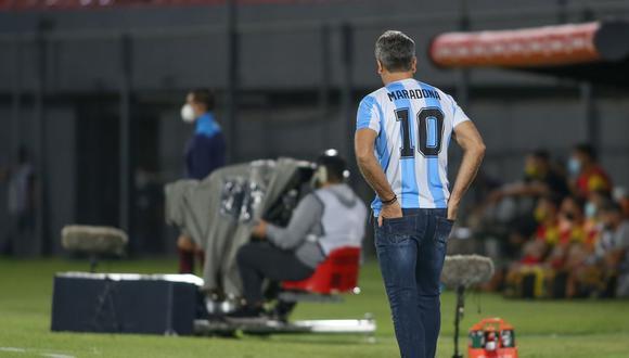 Renato Gaúcho utilizando la '10' de Argentina. (Foto: Conmebol)