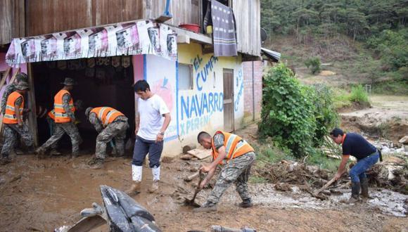 Municipalidad Distrital de Perené indicó que el evento dejó 39 personas damnificadas, 5 personas heridas, 12 viviendas destruidas y una persona fallecida. (Foto: Ministerio de Defensa)
