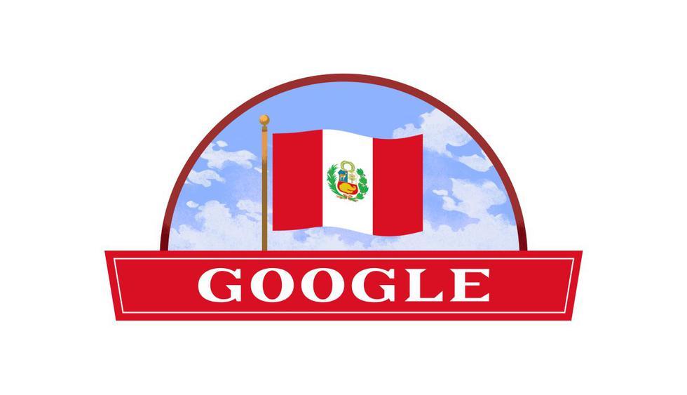 Para este año, la bandera del Perú se levanta sobre el nombre de Google en el doodle que celebra las Fiestas Patrias en nuestro país. (Foto: Google)