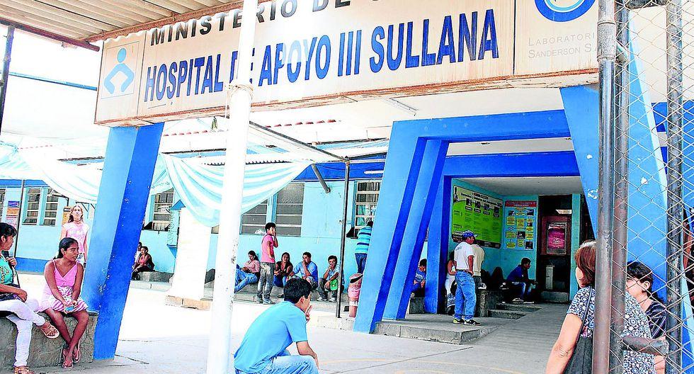 El hecho ocurrió en los interiores del Hospital de Apoyo de Sullana, en Piura. (GEC)