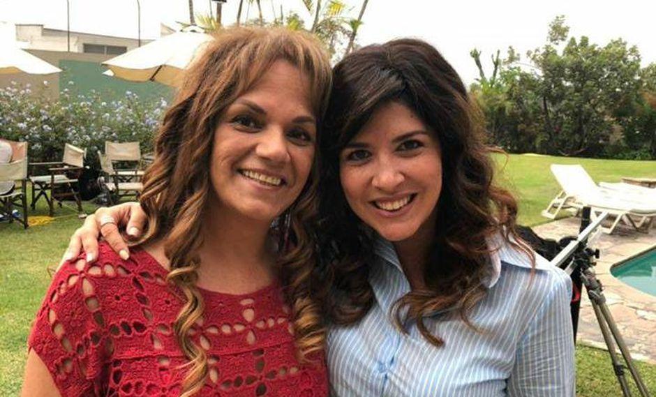 La actriz al lado de la verdadera Sandra de la Llave. (Créditos: Sinargolla Producciones)