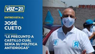 """José Cueto: """"Le pregunto a Pedro Castillo cuál sería su política antidrogas"""""""