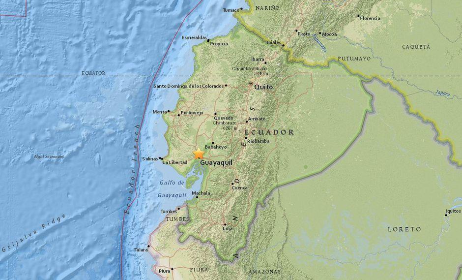 Sismo de 5,4 en Ecuador. (USI)