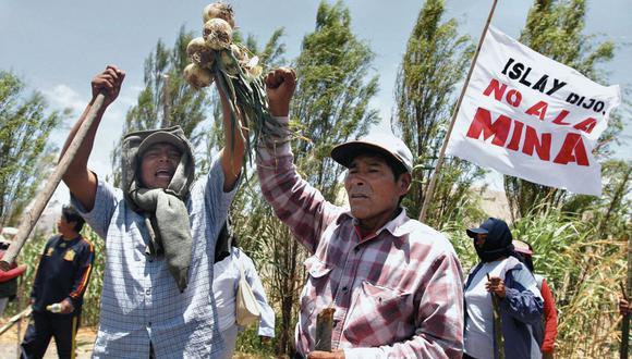 Le dicen no. Manifestantes vuelven a las calles para expresar su rechazo al proyecto minero. (USI)