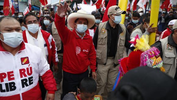Pedro Castillo realiza actividades en Huancavelica donde se registró nueva agresión contra la prensa. (photo.gec)