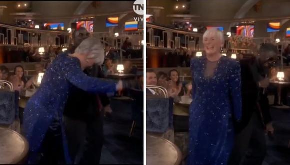 Glenn Close perdió como Mejor actriz de reparto, pero mostró todo su talento para el baile. (Foto: Captura TNT).