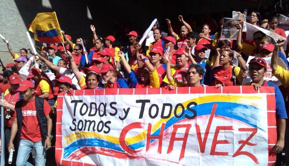 Venezolanos convocados para marchar hacia Miraflores bajo el lema #YoMeJuramentoConChávez. Foto: TeleSur (Facebook)