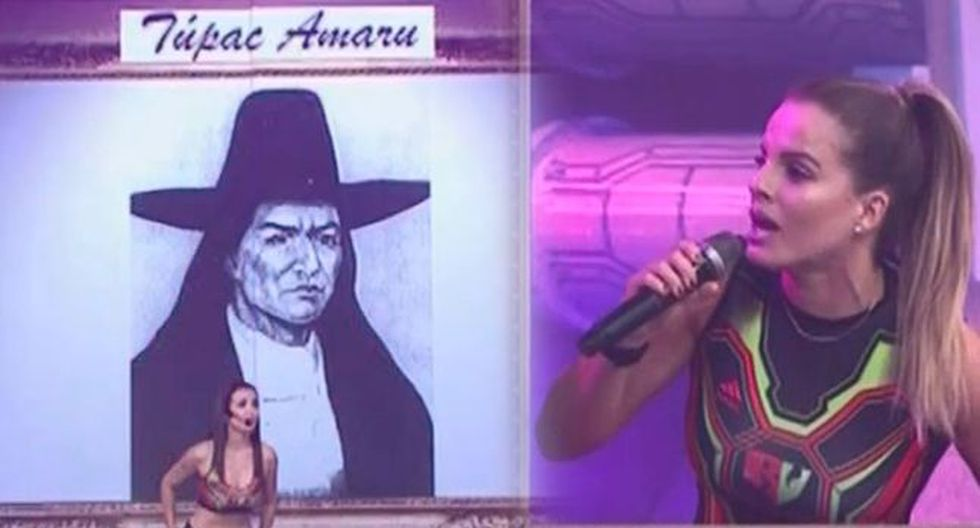 Alejandra Baigorria comete error en pregunta de cultura general. (Foto: Captura América TV)