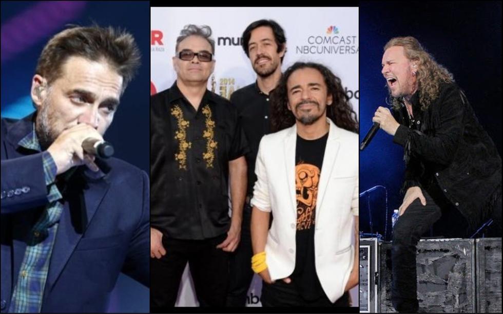 Vicentico, Café Tacuba y Maná serán los invitados internacionales de 'Rock en Lima'. (Créditos: Composición)