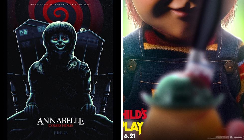 """Chucky"" ajusticia a ""Annabelle"" en nuevo póster (Foto: Child's Play/ @annabellemovie)"
