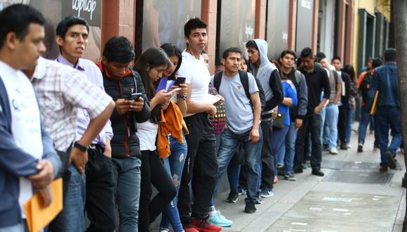 El 29% de los jóvenes encuestados indicaron que llevan entre 3 a 6 meses buscando un puesto de trabajo. (Foto: Jesus Saucedo / GEC)