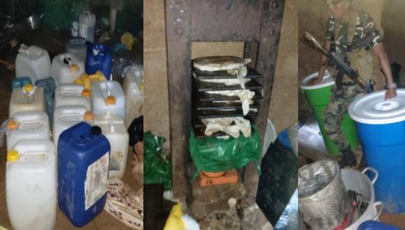 Puno: policías se enfrentan en feroz balacera con 'narcos' y destruyen laboratorio de cocaína