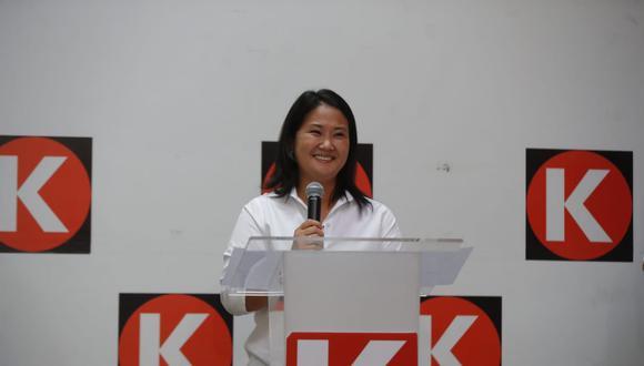 """""""Nos presentamos primero con humildad, con gratitud, con el compromiso de cumplir con nuestra palabra"""", señaló Fujimori Higuchi. (Foto: GEC)"""
