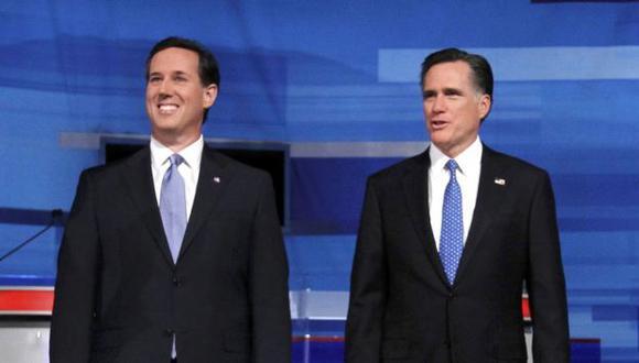 RIVALES. La atención se centrará en Romney (derecha) y Santorum. (Reuters)