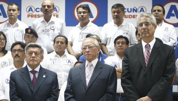 Alianza para el Progreso, Restauración Nacional y Somos Perú conformaron la Alianza APP. (Perú21)