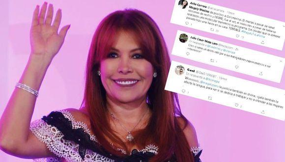 Twitteros criticaron duramente a Magaly Medina. (GEC/ Twitter)