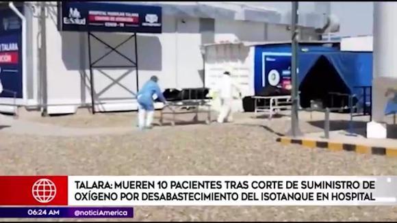 Talara: fallecen 10 pacientes tras corte de suministro de oxígeno