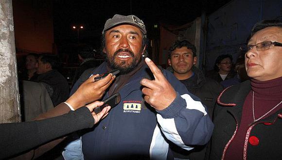 Tras ser liberado, Huaman volvió a mostrar un actitud desafiante. (USI)