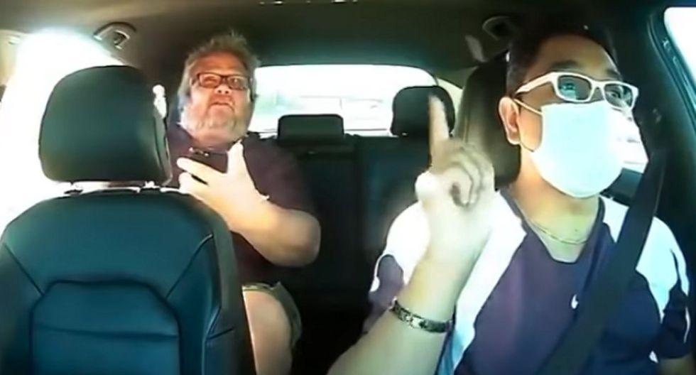 Edgar Jiménez (conductor) publicó el video de los insultos racistas que recibió de un pasajero. (Foto: captura YouTube)