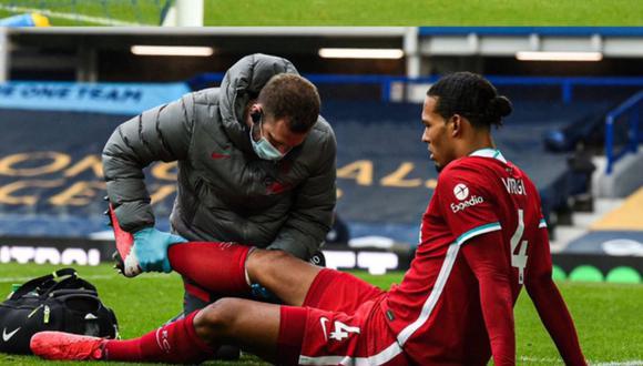 Virgil van Dijk deberá ser operado de la rodilla derecha, confirmó Liverpool. (Foto: AFP)