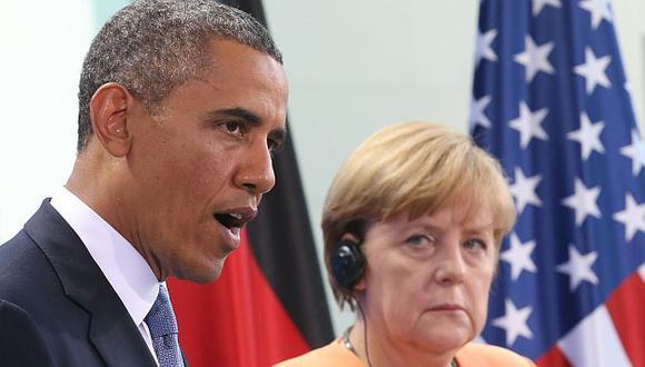 Barack Obama y Angela Merkel en junio de este año. (AP)